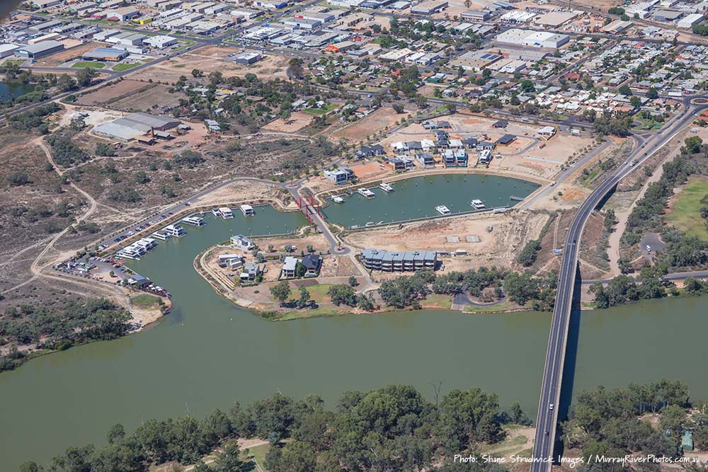 Mildura Dockside Marina aerial photo - Shane Strudwick Images
